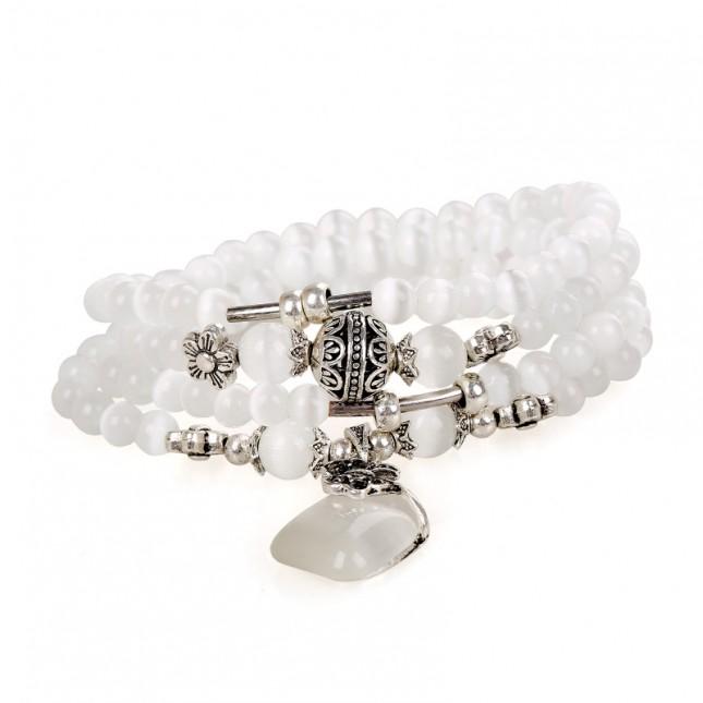 White Opal Stackable Bracelet