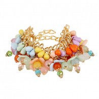 Flower Colorful Beads Bracelet