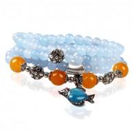Light Blue Beads Wrap Bracelet