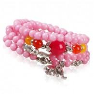 Pink Beads Wrap Bracelet
