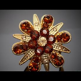 Cluster Flower Design Gold Ring