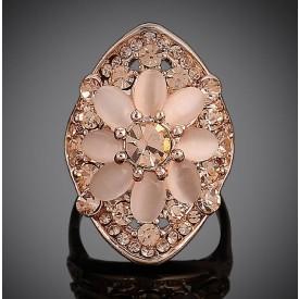 Flower Pink Opal Ring