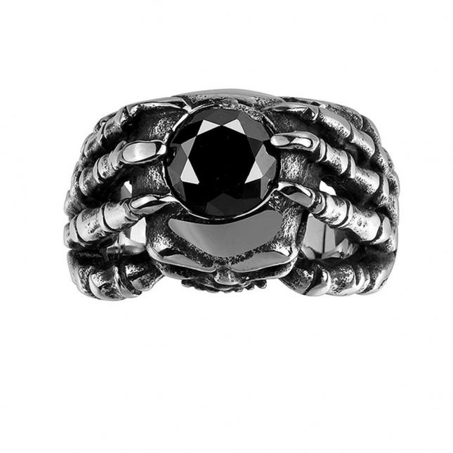 Black Gothic Skull Ring