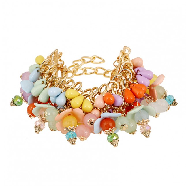 Flower Colorful Beads Bracelet