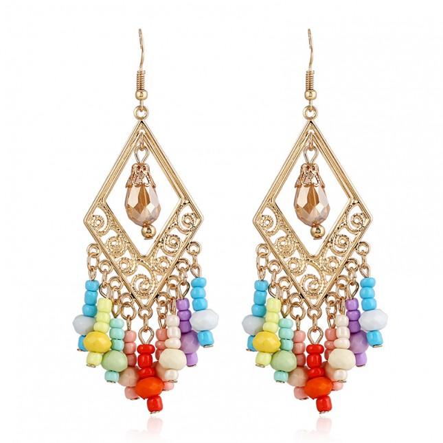 Boho Colorful Beaded Earrings