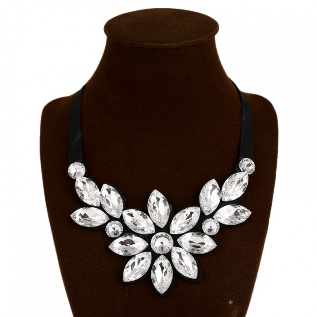 Daisy Crystal Costume Necklace