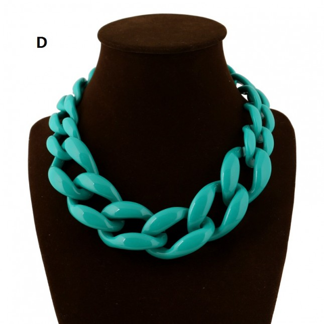 Blue Weave Statement Necklace