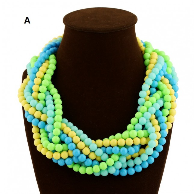 Chunky Beaded Statement Necklace