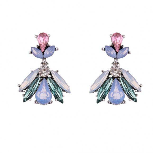 Wedding Crystals Cluster Earrings e049