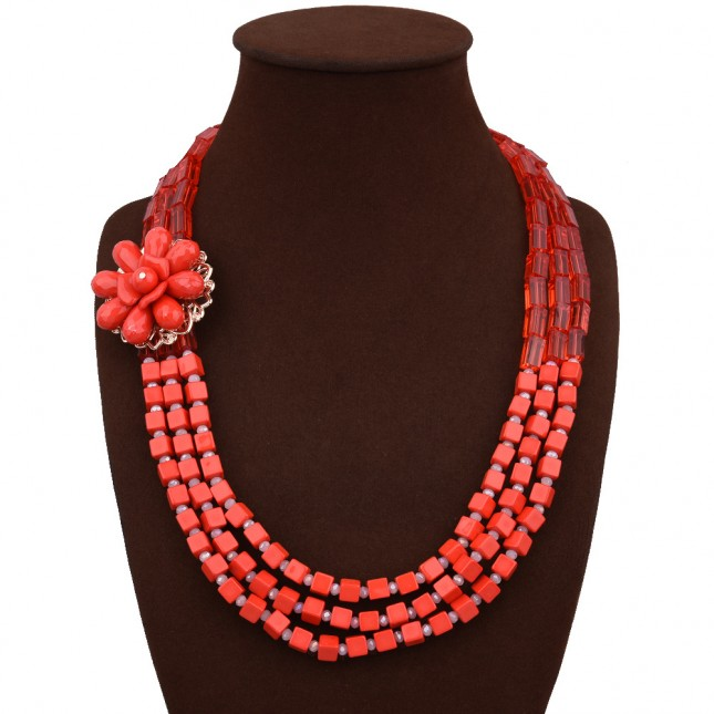 Layered Colorful Bead Jewelry Set