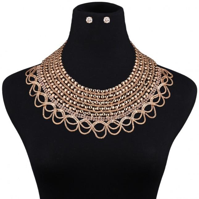 Fashion Ripple Bridal Jewelry Sets