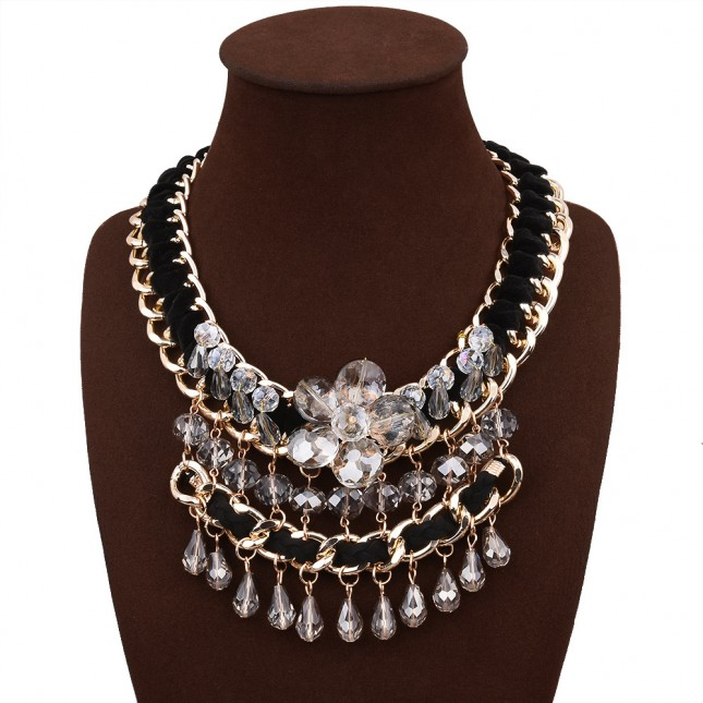 Colorful Crystal Costume Necklace