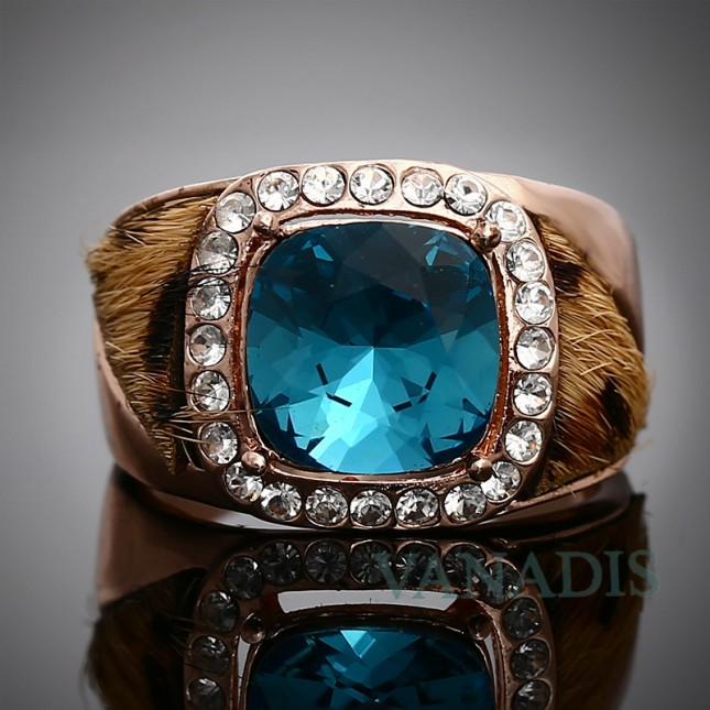 Leopard-Print Blue Statement Band