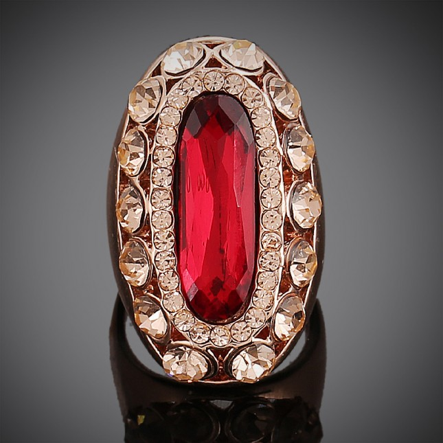Red Gemstone Cocktail Ring