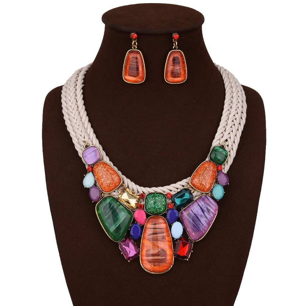 Chunky Necklace and Earring Set
