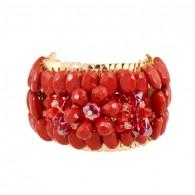 Charm Ruby Cuff Bracelets