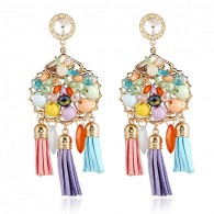 Colorful Beaded Chandelier Earrings