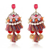 Color Tassels Chandelier Earrings