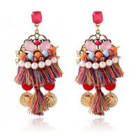 Color Tassels Chandelier Earrings