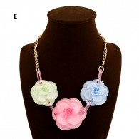 Tri Flower Deco Necklace