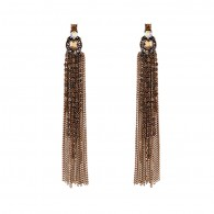 Personlised Long Tassels Gold Earrings e045