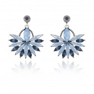 Blue Cluster Sector Stud Earrings e084