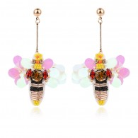 Bee Design Long Drop Statement Earrings e112