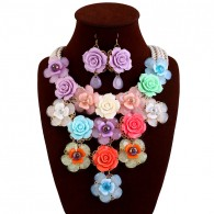 Colorful Flower Jewelry Sets N015