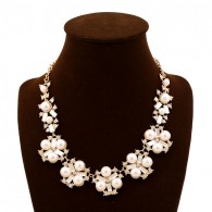 Pearl Flower Statement Necklace