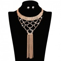 Bib Style Crystal Statement Jewelry Sets
