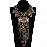 Long Bib Statement Necklace