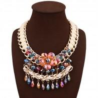 Multicolor Crystal Costume Necklace