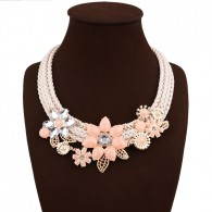 Flower Zircon Statement Necklace