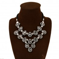 Black Gems Crystal Zircon Necklace