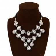 White Gems Crystal Zircon Necklace