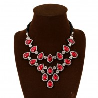 Red Gems Crystal Zircon Necklace