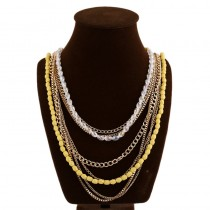 Long Chain Bead Necklace