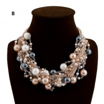 Big Pearls Collar Necklace