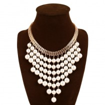 Tassels Pearl Statement Necklace