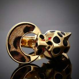 Leopard-Print Costume Ring
