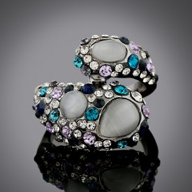Statement Crystal Cocktail Ring #R14