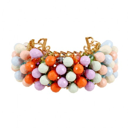Colorful Beads Cuff Bracelet