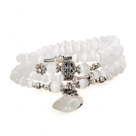 White Opal Stackable Bracelet
