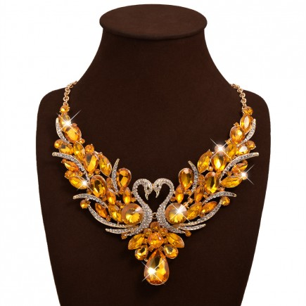 Golden Layered Chunky Choker Necklace