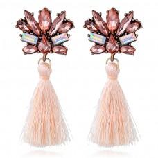 Pink Chandelier Earrings e004