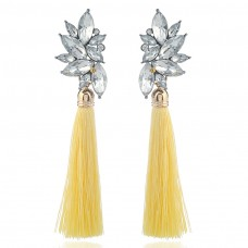 Yellow Zircon Cluster Statement Earrings e005