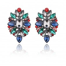 Multicolor Flower Cluster Earrings e015