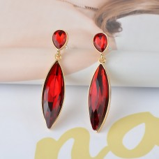 Red Green Sapphire Costume Earrings e019